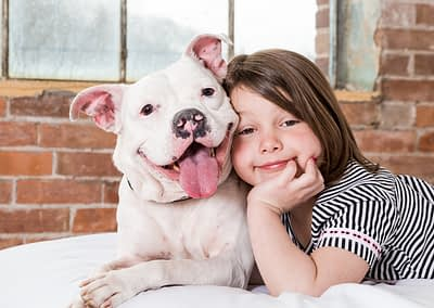 BFF dog and little girl