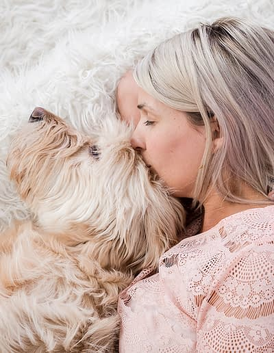 cuddling with your dog